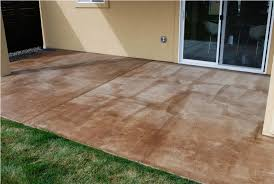 cleaning stained concrete patio diy stained concrete patio