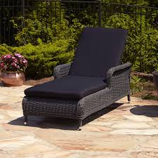 resin wicker chaise lounge. Simple Resin Alcee Resin Wicker Outdoor Chaise Lounge Chair And Cushion  Throughout Chairs With Cushions Intended 2