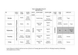 Daily Time Table Year 3 Daily Timetable St Silas C Of E Primary School