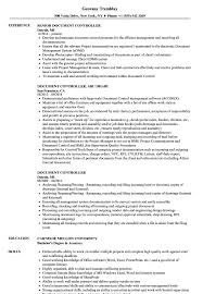 Job Profile Of Document Controller Document Controller Cv Magdalene Project Org