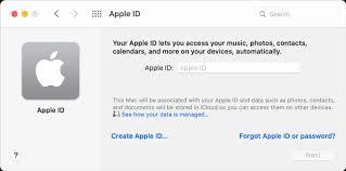 create an apple id on mac apple support