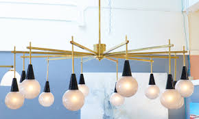 stilnovo style murano glass mid century chandelier with brass finish for home lighting ideas