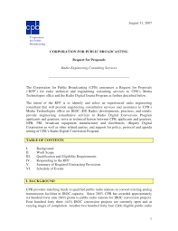 Sample Proposal Letter For Consultancy Services Radio Engineering Consulting Services Request For Proposal