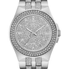 shop bulova crystal watches for men on wanelo bulova mens crystal dress watch stainless steel case european crystals