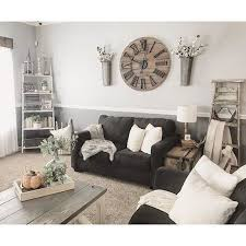living room above couch decor
