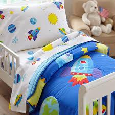 bedding outer space rocket planets toddler boy bedding blue in bag comforter sheet set boys bedroom
