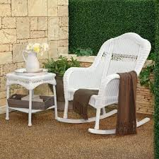 white outdoor rocking chair amazing c coast bay resin wicker with cushion for trends and