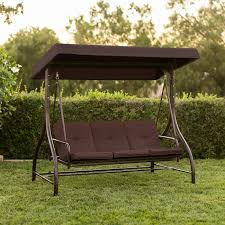 best choice s 3 seat converting outdoor furniture patio swing canopy hammock brown 0