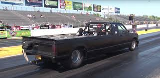 Stretched Chevy S10 Truck Has a Twin-Turbo Big Block in Its Bed ...