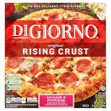 digiorno original rising crust sausage pepperoni pizza 30 3 oz walmart