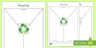 Black And White National Recycling Week Y Chart Worksheet