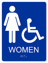 Image Washroom Ada Accessible Womens Restroom Sign 6x8 Providence Engraving Ada Accessible Womens Restroom Sign Colors Available