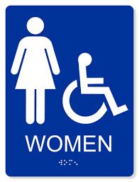 womens bathroom sign. Interesting Bathroom ADA ACCESSIBLE WOMENu0027S RESTROOM SIGN  6X8 Intended Womens Bathroom Sign