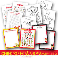 There's lots of painting, cutting and sticking involved! Free Printable Chinese New Year Activity Set Fun Crafts Kids