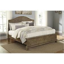 california king panel bed b659 58 ck ashley furniture trishley light brown bedroom bed