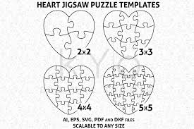 Download this free vector about illustration of jigsaw icon, and discover more than 8 million professional graphic resources on freepik. Heart Shape Jigsaw Puzzle Template Ai Eps Svg Dxf Files Puzzle Vector Heart Puzzle Template Vector Image Vector P Shaped Jigsaw Puzzles Heart Puzzle Pattern