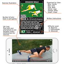 stack 52 bodyweight exercise cards strength workout playing card game designed by a military fitness expert video instructions included