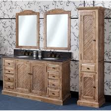 rustic double sink bathroom vanities. Antique WK Series 60 Inch Rustic Double Sink Bathroom Vanity Natural Oak Finish Vanities