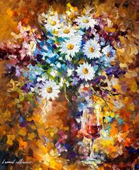 large canvas paintings flower paintings