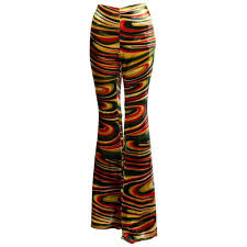 gucci pants. gucci by tom ford fw1999 runway psychedelic swirl silk velvet pants documented 1