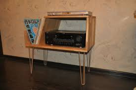 vinyl record furniture. Vinyl Record Cabinet With Hairpin Legs Furniture E