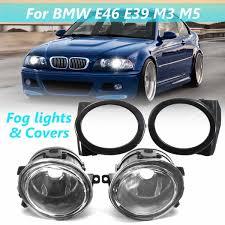 E46 M Sport Fog Light Bulb Pair 12v Fog Light Assembly Car Sport Foglamps Foglights