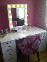 vanity table lighting. Vanity Table With Lights White Stained Hardwood Lighted Makeup Mirror And Desk Drawers . Lighting A