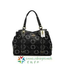Black Coach Waverly Logo Large Totes