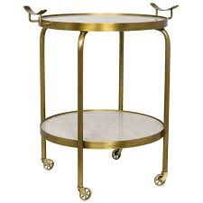 table on wheels. noir frances side table w/ wheels - gold on w