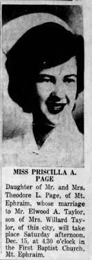 Priscilla Page wedding - Newspapers.com