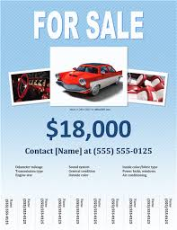 Car For Sale Template Sales Flyer