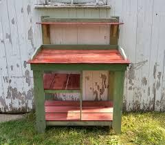 wood pallet furniture diy. Diy Colorful Pallet Potting Benches Furniture Plans Wood Bench Plans: Full Size