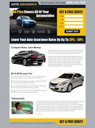 get a free auto insurance quote lp 017 auto insurance landing page design preview