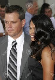 Immagini Stock - Matt Damon E La Moglie Luciana Damon Alla Premiere Di Los  Angeles Di