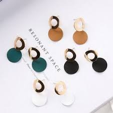 New Fashion Simple Earring Hollow Arc Wafer Curved Circle ... - Vova