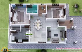 Kerala Home Design 3d 3 Bedroom House Floor Plan Design 3d Interior Design Ideas
