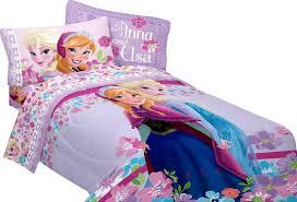frozen princess anna elsa twin comforter sheet set k 4 piece bed in a bag com