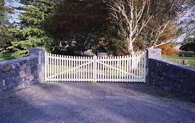 Picket Wooden Gates Fences driveway gates Wooden gate