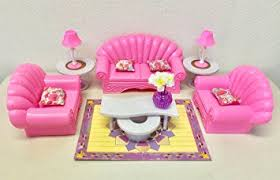 gloria barbie size dollhouse furniture living room set barbie doll house furniture sets