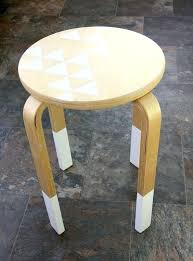 ikea wooden stool highlight your stool with white paint ikea wooden step stool australia ikea wooden stool