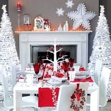red and silver table decorations. White And Silver Christmas Table Decorations Remarkable With Red