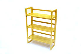 stacking wooden bookshelves 3 tier folding book shelf be furniture s