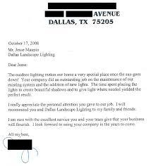 dallas landscape lighting review customer letter