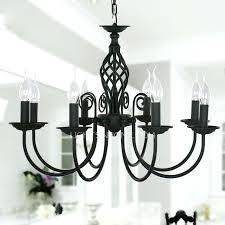 black wrought iron chandelier fixture 8 light material chandeliers globe