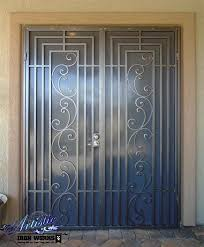 nice metal security double doors with best 10 security screen ideas on security screen