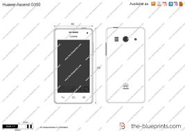 Huawei Ascend G350 vector drawing