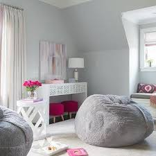 Captivating Pink And Gray Teen Girl Bedroom Design