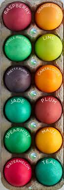 Food Coloring Chart For Easter Eggs