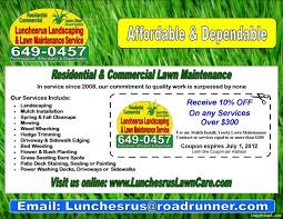 lawncare ad lawn care advertisement lawn care ad templatesmberproco safero adways