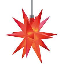 3d Led Stern Rot ø 12 Cm Batterie Für Außen Innen Weihnachtsstern Ministern Kunststoff